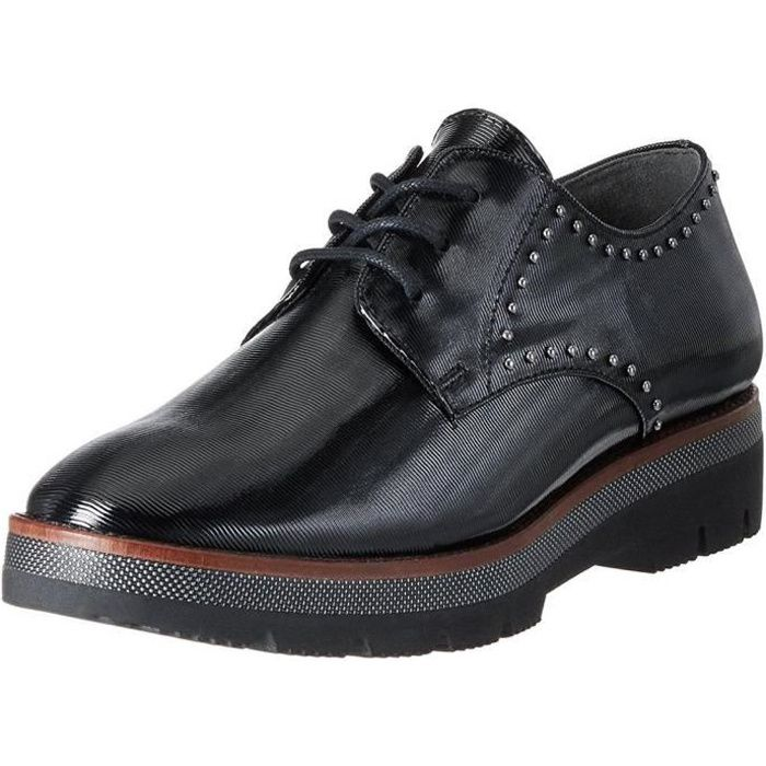 chaussures lacets marco derbies femme 23702 a tozzi noirs 5jqAL34R