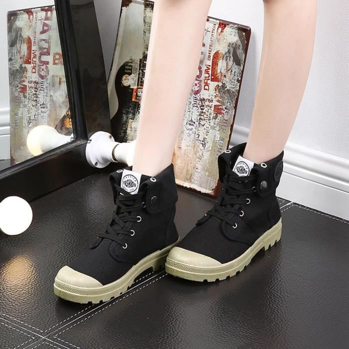 Chaussures Bottes Bottines Bottes Palladium Style Fashion High-Top Chaussures de Cheville Militaires Chaussures de Sport Bottes et Boots Bottes et Bottines