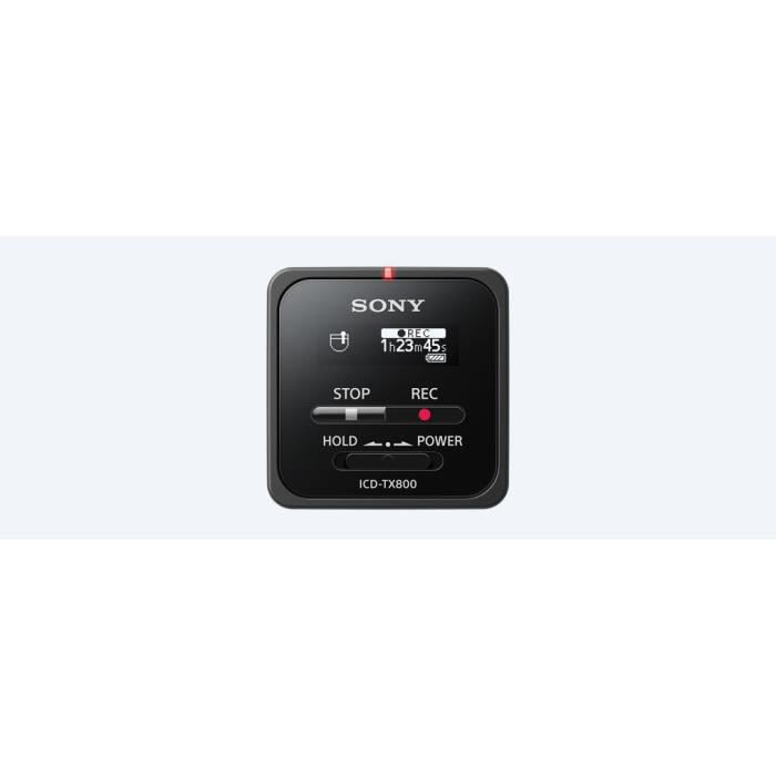 Sony Icd-tx 800, 636 H, Linear Pulse Code Modulation (lpcm), Usb, Lithium-ion (li-ion), 22 G, 38 Mm