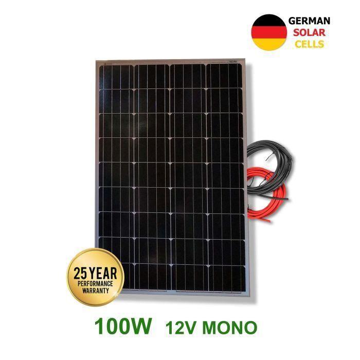 2 Pièces 100 Watt Mono Panneau Solaire Module Photovoltaïques Photovoltaïque Tüv