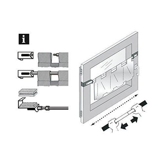 Pince Barre Flex ø 6//8 mm rideaux tringle barre Vitres Vitrage extensible