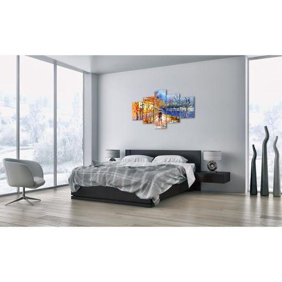 Image sur Verre Tableau en Verre prete a Suspendre GEA125x70-0136 Plusieurs /él/éments 5 Parties Impression sur Verre 125x70cm Moderne Pret a accrocher Tableaux pour la Mur 0136