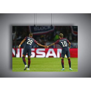 AFFICHE - POSTER Poster Mbappe & Neymar Duo PSG wall art 02 - A4 (2