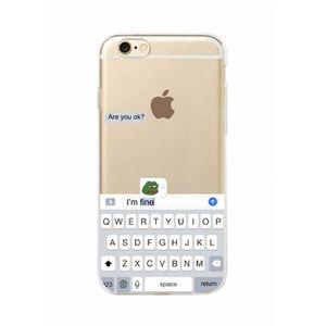 coque de protection iphone 7 8 blanc drole mem