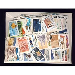 TIMBRE France lot de 1000 timbres obliteres differents