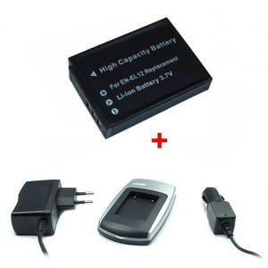 BATTERIE APPAREIL PHOTO Chargeur + Batterie pour Nikon EN-EL12