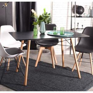 TABLE DE CUISINE  Table à manger 120x80x71cm Blanche MDF Bois Scandi