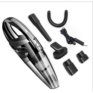 Mini aspirateur de voiture de poche portable sec humide double usage haute consommation sans fil rechargeable muet /économie d/énergie surveillance de tension de petite taille 12V 120W noir