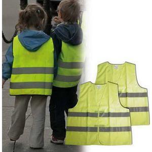 KIT DE SÉCURITÉ CARPOINT Gilet de sécurité enfant - Vert fluo