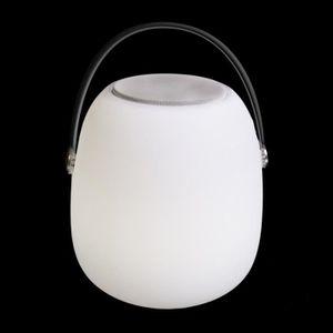 ENCEINTE NOMADE Lampe LED extérieure blanche HAUT PARLEUR BLUETOOT