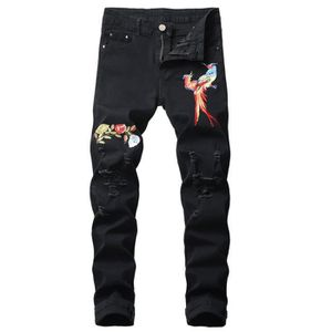 PANTALON Jeans homme de marque luxe Jean finement brodé de