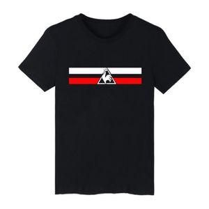 POLO T-shirt rayé pour homme noir T-shirt FFF maillot d
