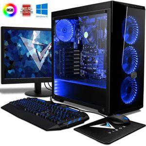 UNITÉ CENTRALE + ÉCRAN VIBOX Vision 2LW PC Gamer Ordinateur avec War Thun
