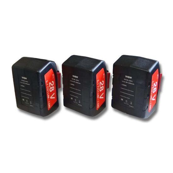 Batterie 28 V 4000 mAh pour AEG Milwaukee v28ag v28jsb 0719-22 v28cs//0 v28h//0 v28b