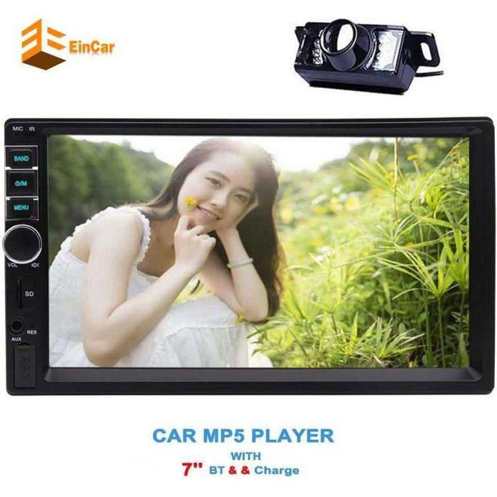 Dash caméra de recul sans écran tactile capacitif Univresal 7 '' pouces Car Stereo Bluetooth 2 Radio Autoradio Din HD récepteur FM