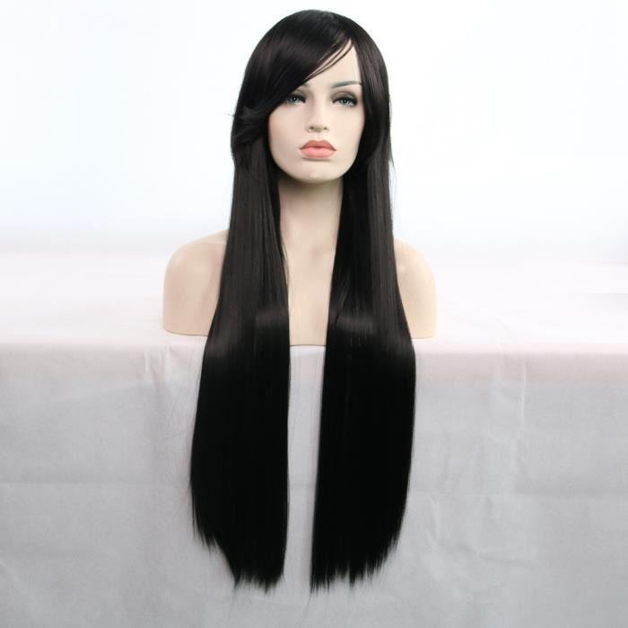 La nouvelle arrivée incroyable longue ligne droite 80CM perruque vous fait accrocher 100% cheveux humains XHL80815220BK_769