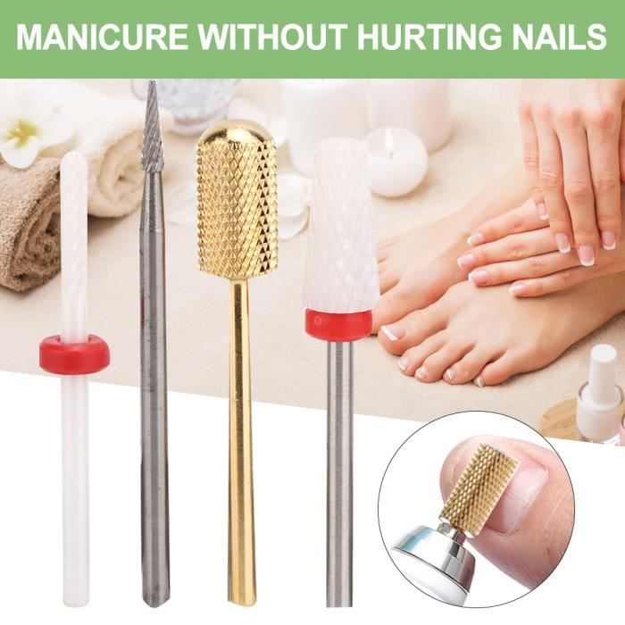 Soin des ongles Nail Art Drill Bits Dead Skin Removal Steel Tungsten Steel Electric Grinding Machine Head (FD-8)-CHE