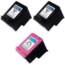 Pack 3 cartouches compatibles HP 301 XL - ENVY 5532 - 2 noires et 1 couleurs