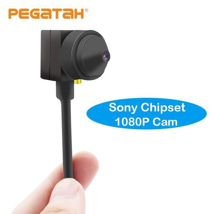 Mini caméra de vidéosurveillance AHD 1080P-720P, 0.01 lux, dispositif de sécurité à faible éclairage, avec objectif [9C8B9C8]