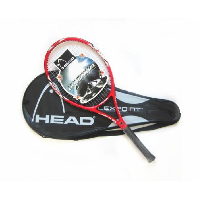 Raquettes de tennis en fibre de carbone ultra légères antichoc et anti-projection rouge