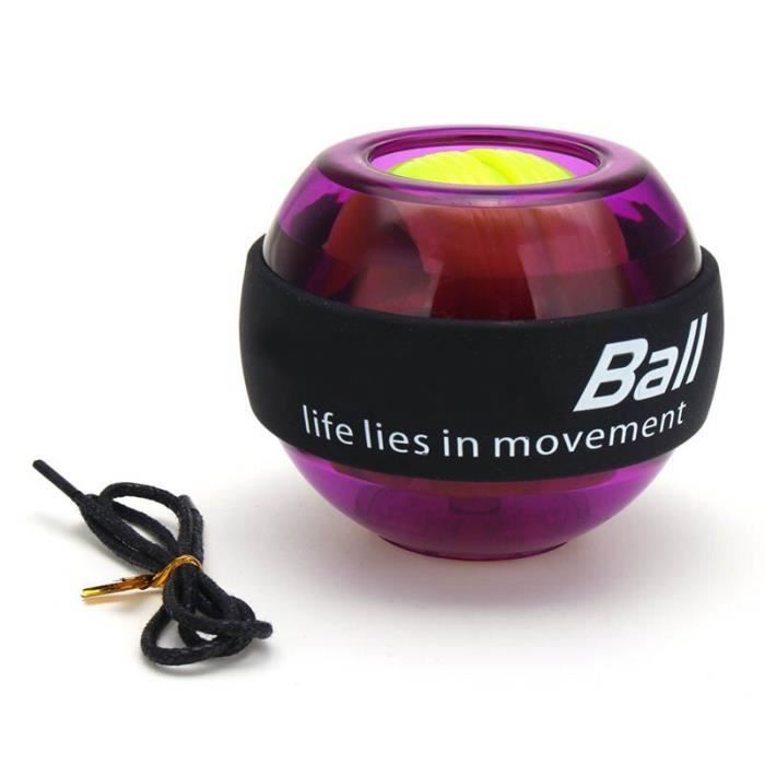 Accessoires Fitness - Musculation,Gyroscope Powerball LED Gyroscope puissance poignets balle bras exercice Force - Type VIOLET #A