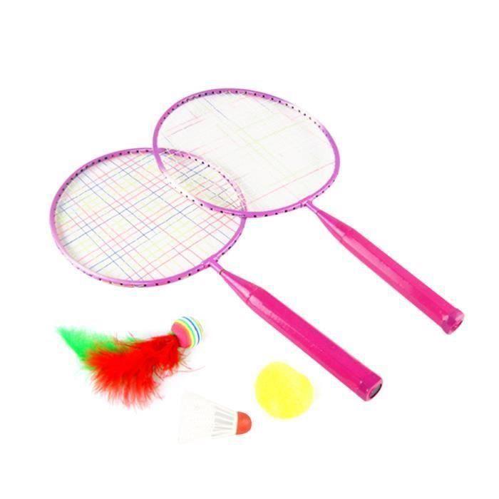 1 Ensemble de Raquette de Badminton Coloré Drôle Durable Portable Fournitures de Sport RAQUETTE DE BADMINTON - CADRE DE BADMINTON