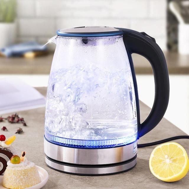 GY2930 Bouilloire électrique speedbouillante bouilloire à thé en verre bouilloire sans fil avec arrêt automatique et Protection co