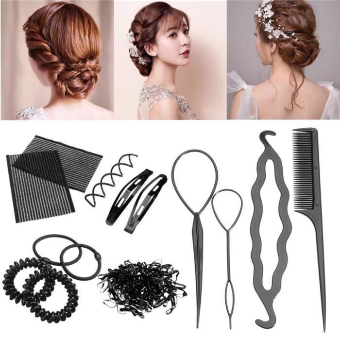 10Pcs/Set Accessoires Cheveux Outil Coiffure Pince