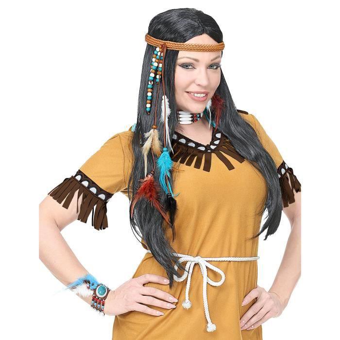 Kit accessoires indien sauvage adulte - Coloré