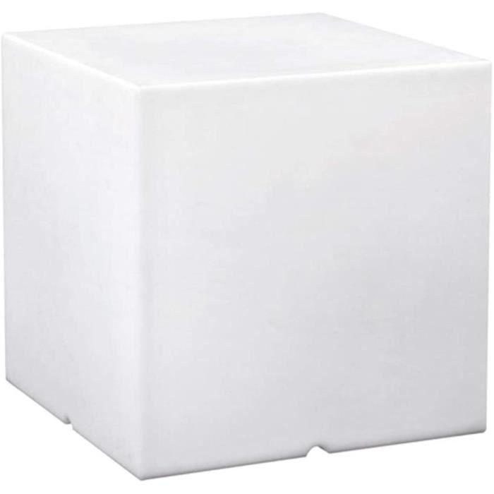 Cube lumineux tabouret filaire pour exteacuterieur eacuteclairage puissant LED blanc CARRY 40cm culot E27