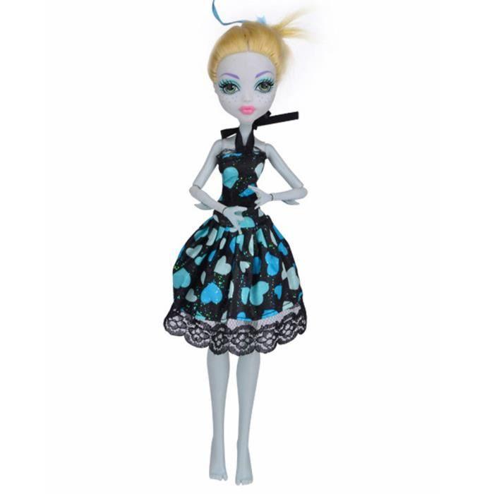 Robe de princesse à la mode cool pour poupée Monster High a32