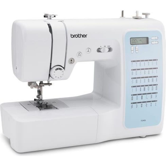 BROTHER FS40s Machine à coudre électronique-40 points de couture-Système d'enfile-aiguille-Ecran LCD-Touches de sélection-Bras libre
