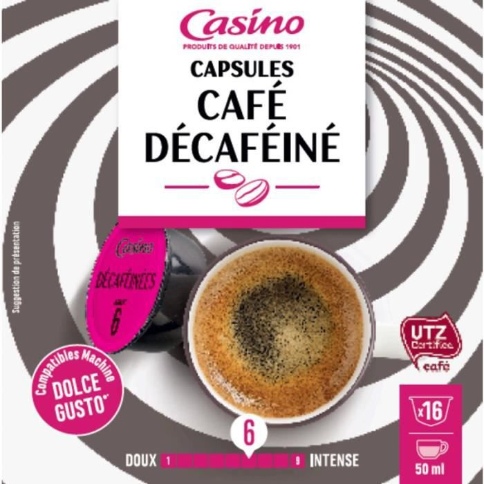 CASINO Capsules de café Décaféine - 16x 112 g