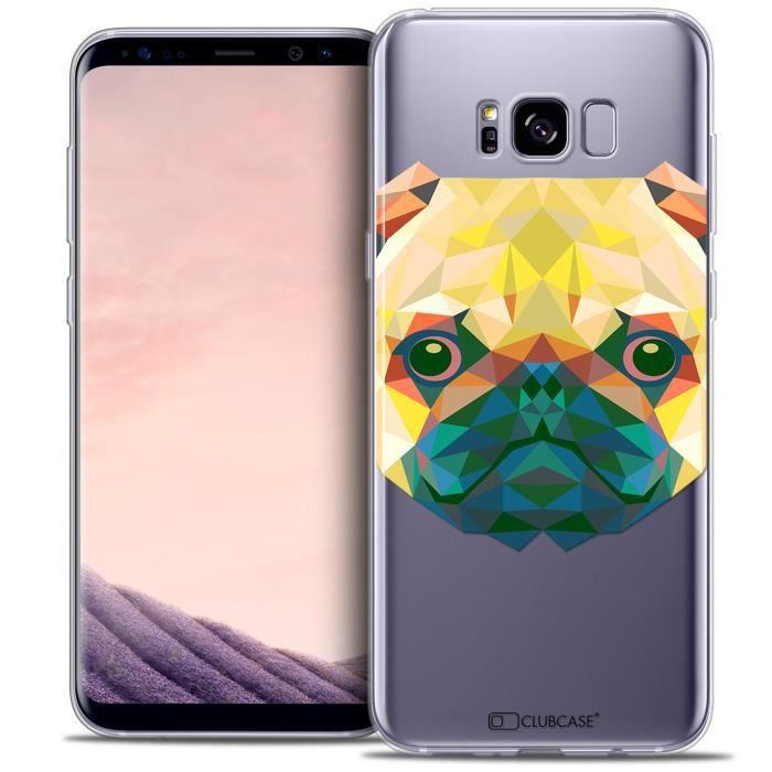 Coque Gel Samsung Galaxy S8+/ Plus (G955) Extra Fine Polygon Animals - Chien