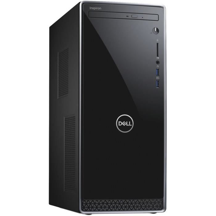 Unité Centrale - DELL Inspiron 3670 - Core i3-8100 - RAM 8 Go - 1To + 128Go SSD - NVIDIA GTX 1050 4Go Windows 10