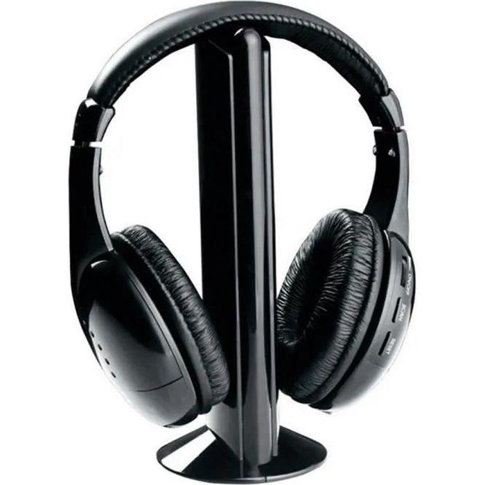 2020 5in1 Salut-Fi Casque sans fil Casque stéréo pour PC portable TV FM Radio MP3 poi20664