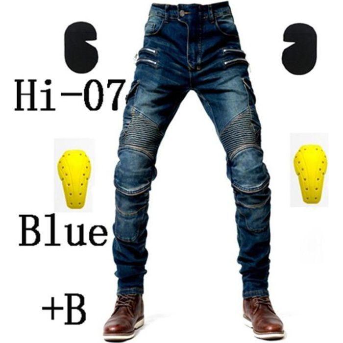 Pantalon de moto bleu Hommes Moto Jeans Équipement de protection