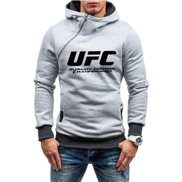UFC Ultimate Fighting Championship Mma Logo SWEAT À CAPUCHE-Gris
