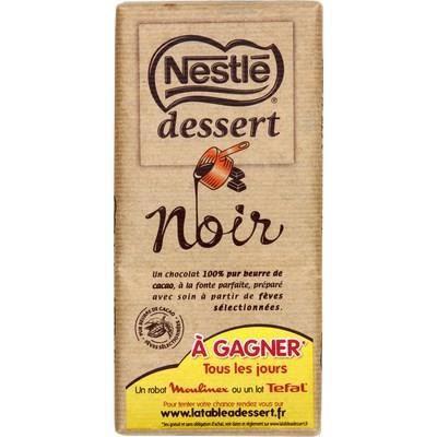 NESTLE Tablette chocolat noir - 205 g