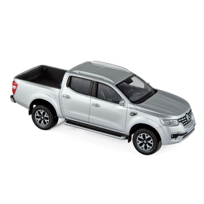 Miniatures montées - Renault Alaskan Pick up argent 2017 1/43 Norev