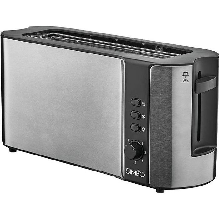 Grille pain extra large 1000W inox