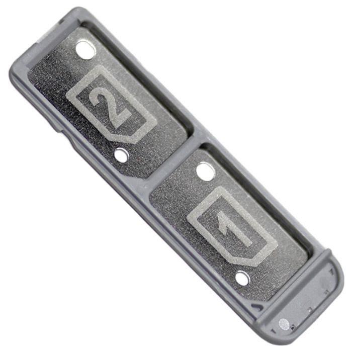 Sony Xperia XA (F3112, F3116) Tiroir Carte Dual Nano SIM, Piece de Remplacement Original