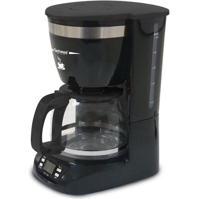 TECHWOOD TCA-996 Cafetière filtre programmable - Noir