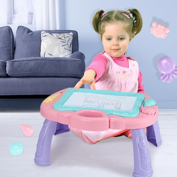 TEMPSA Ardoise Magique Tableau Jouet Planche à Dessin Magnétique pour Enfant Table Croquis Effaçable ROSE