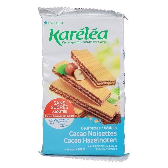 Karéléa Gaufrettes cacao noisettes - 200 g