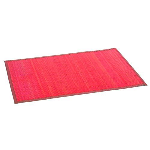 tapis color en bambou 60 x 90 cm rouge achat. Black Bedroom Furniture Sets. Home Design Ideas