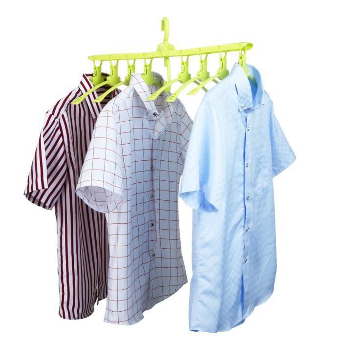 Cintres magiques pour /économiser de lespace dans votre garde-robe Blanc