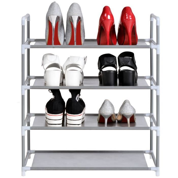 Meuble chaussure rangement 4 couches chaussures organisateur achat vent - Meuble chaussure discount ...