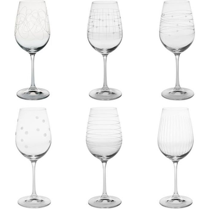 coffret 6 verres a pied 35 cl graphik achat vente verre vin cdiscount. Black Bedroom Furniture Sets. Home Design Ideas