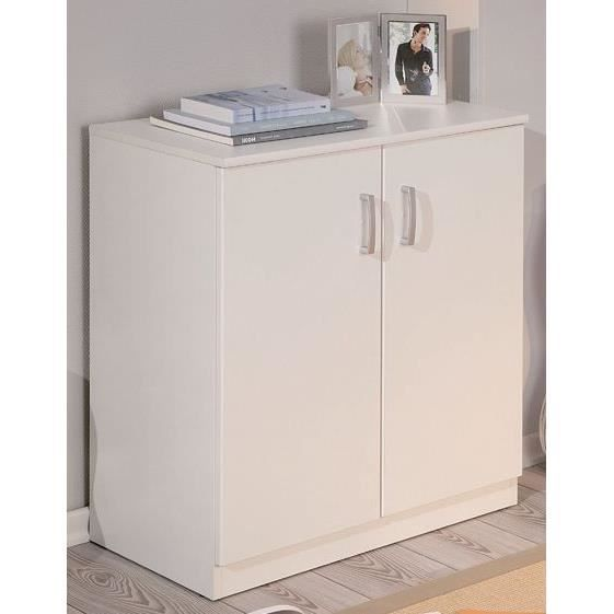 bahut blanc 2 portes trieste achat vente buffet bahut bahut blanc 2 portes triest cdiscount. Black Bedroom Furniture Sets. Home Design Ideas